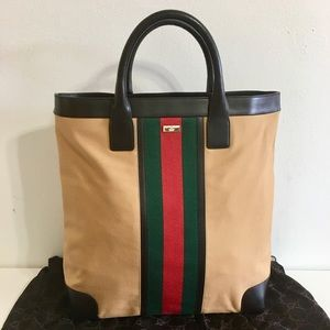 Authentic GUCCI large tote/shopper bag w leather